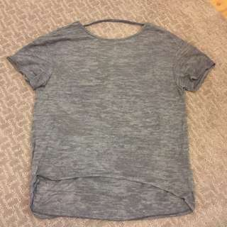 Black less Grey T Shirt