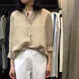 韓製麻料襯衫