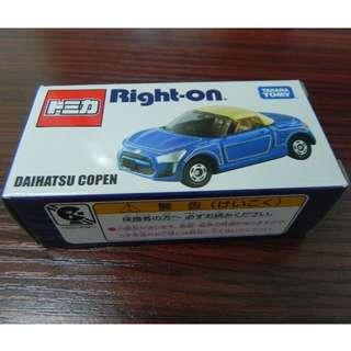 全新2016 Tomica 日本Right on 限定 Daihatsu Copen 牛仔褲 blue Jean 大發 限定版 車仔 模型車
