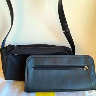 Mandarina Duck shoulder bag with detachable clutch