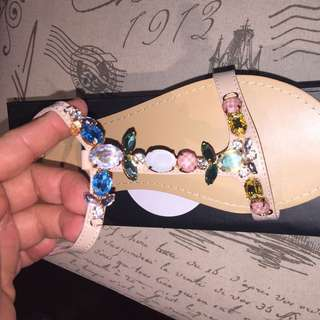 Novo Jeweled Flats - Brand New