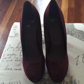 Brand New Novo Burgundy Heels
