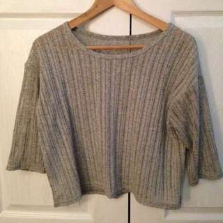3/4 Sleeve Stripped Blouse