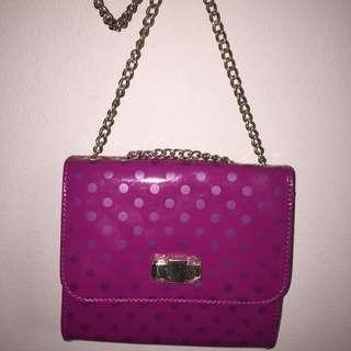 Alannah Hill pink shoulder bag