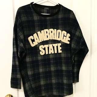 NEW Oversized Plaid Sweater