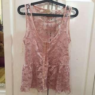 Pink Floral Vest