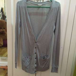 Gray Long Cardigan