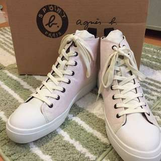Sport b.恐龍高筒帆布鞋