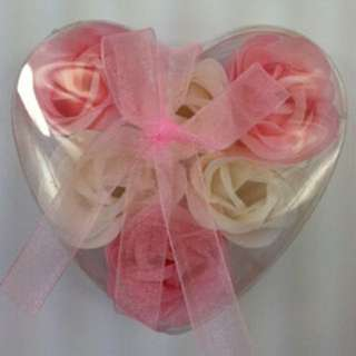 Flower Shaped Soaps In Heart Box