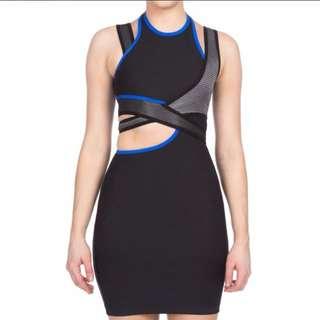 Alexander Wang x H&M Women's Fitted Dress - Black/Grey/Blue Size M