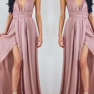 Pink Slik Gown