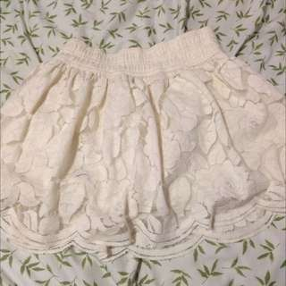 Hollister White Lace Skirt