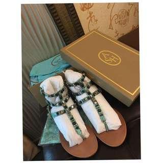 ASH 時尚夾腳鞋38號-全新正品