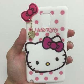 Hello kitty 凱蒂貓 點點系列矽膠造型手機殼   Samsung galaxy Note 4
