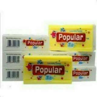 印尼popular肥皂 泡辣去污洗衣皂 洗衣皂 萬用皂 嬰兒皂 寶寶用肥皂 去污皂 去漬皂 香皂