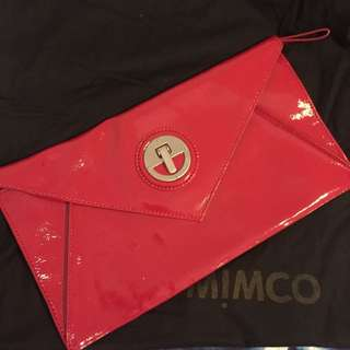Mimco Red Envelope Clutch