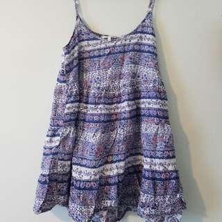 Oneill Babydoll Beach Dress Size 10