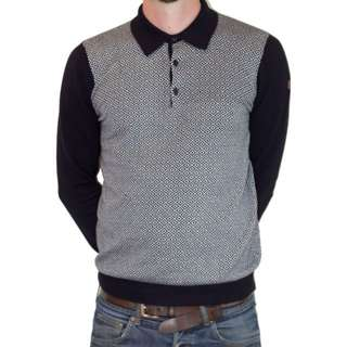 Weekend Offender Navy/White Pattern Knitwear Sweater Sizes Large & X-Large avaliable