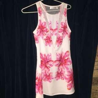 Sleeveless Floral Mini Dress