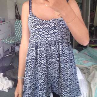 Blue patterned Playsuit