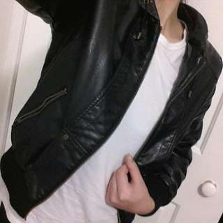 Jet Black Leather Jacket