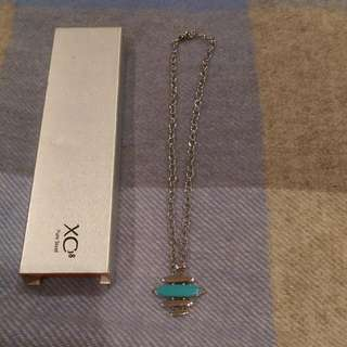 Necklace - Pure Steel With Turquoise Stone