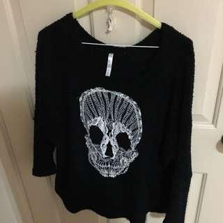 Asha Skull Knitted Jumper, Size S/M