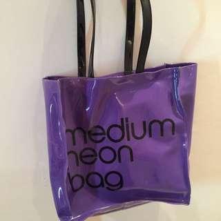 Medium Neon Bag (purple)
