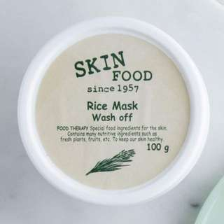 [ Skinfood ] Rice Mask Wash Off (100% Authentic from Korea)