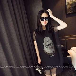 洋裝連衣裙(黑色)