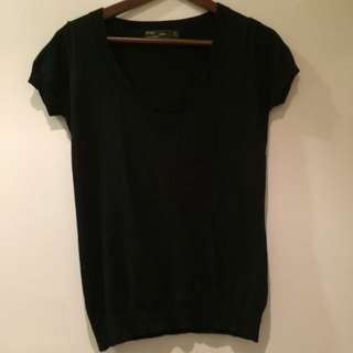 Zara Knit Black Top