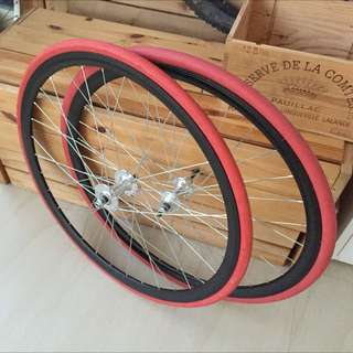 700c Wheelset With Tyres