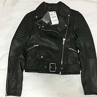 Brand New  Leather Biker Jacket