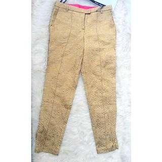 Celana TOPSHOP Gold Jaqkuard