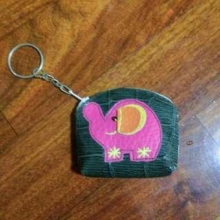 泰國 大象 零錢包 鑰匙圈