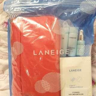 【全新】蘭芝 Laneige 保養品+化妝包組合
