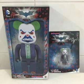 bearbrick the joker Bank Robber Version 400+100