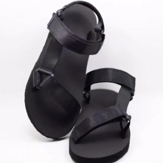 三角扣織帶涼鞋(情侶款)