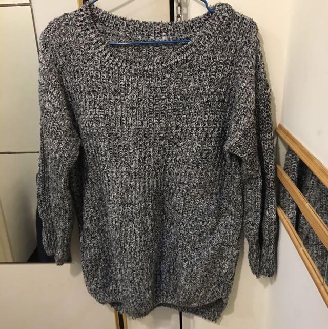 韓國購入灰色毛衣