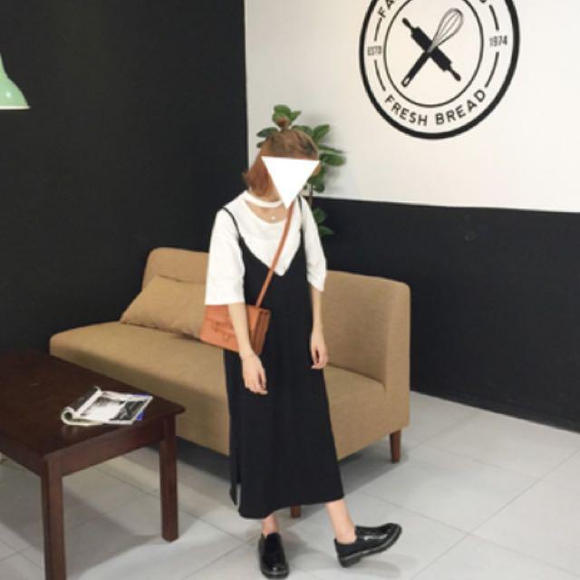黑色長版連身裙