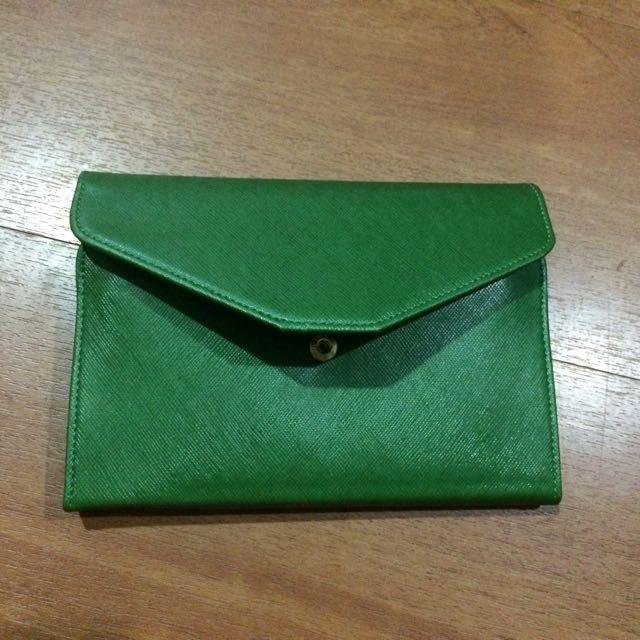 三折護照夾 綠色