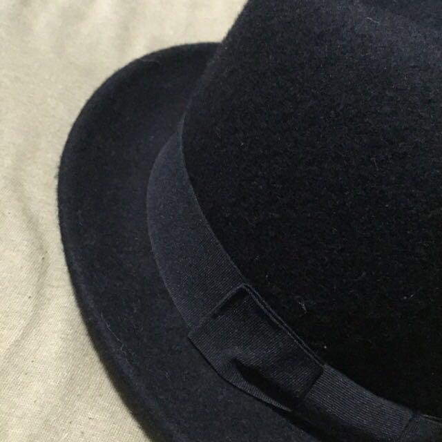 :: 日本購回 紳士帽 寬帽沿 手手黑紳士帽 男女皆可著用 ::