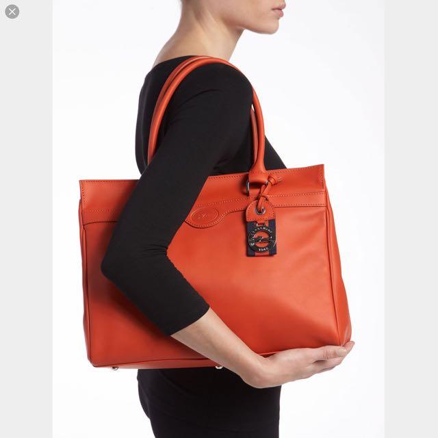 💋今日特價💋正品 Longchamp 紅色真皮 手提包 肩背包