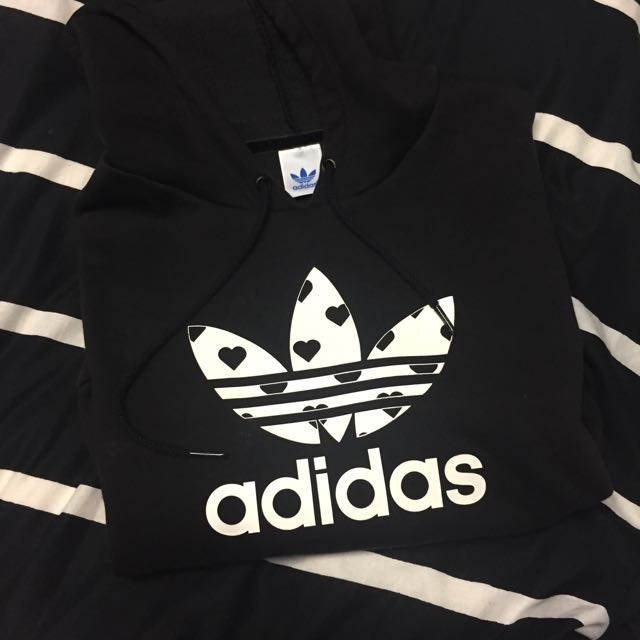 PENDING Adidas Black/White Trefoil Hoodie Authentic