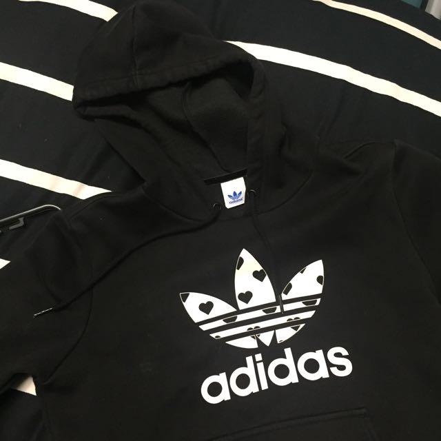 PENDING Adidas Black/White Trefoil Hoodie Authentic