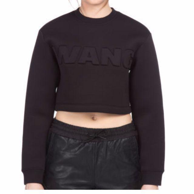 Alexander Wang x H&M Women's Short Scuba Sweat Top - Black