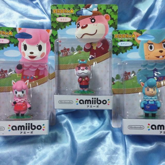 Animal Crossing Amiibo Trio - Japan Release