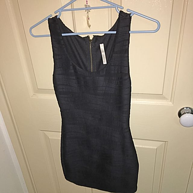 Asha Black Mini Dress, Size 6