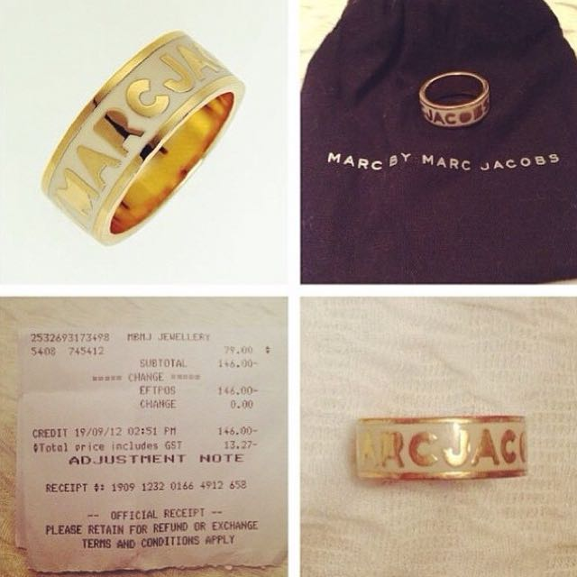 Authentic Marc By Marc Jacobs Ring