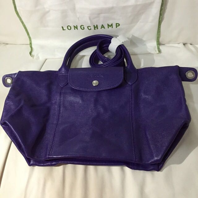 86f7a0313f38 Brand New Authentic Longchamp Women s Purple Amethyst Leather  Le ...